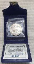 "1971 ""Apollo 15"" Pendant Franklin Mint Sterling Silver Eyewitness Medal 03484"