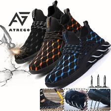 Atrego мужские сетки защитные ботинки нерушимой стальными носком рабочие ботинки для походов