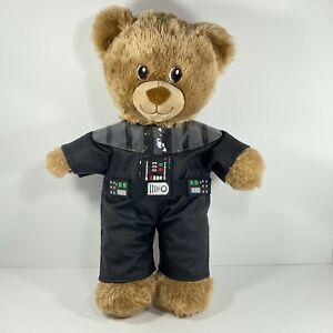 Build A Bear Teddy Bear Brown with Star Wars Darth Vader Outfit