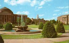 Postcard Texas Dallas Southern Methodist University SMU Central Campus Quad 60s
