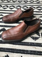 ALFANI Mens Shoes Size 8 Brown Leather Upper Oxford Shoes Made in Italy