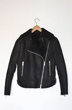 *STUNNING* AllSaints Ladies ASHTON SHEEPSKIN Leather Biker Jacket UK4 US0 EU32