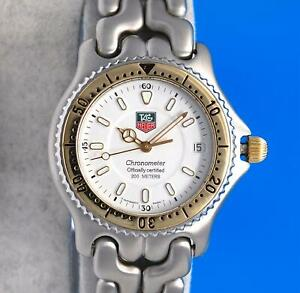 Mens Tag Heuer Link S/el 18K Gold SS Chronometer Watch - Automatic - White Dial