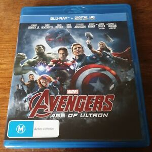 Avengers Age of Ultron Marvel Blu-Ray LIKE NEW! FREE POST