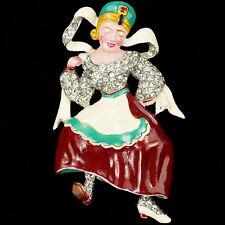 Trifari 'David Mir' WW2 US Allies Patriotic 'Tania' Russian Dancer Pin Clip