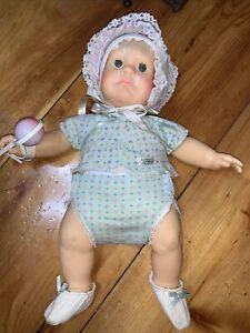Vintage 1985 Hasbro Judith Turner Real Newborn Wide Eyed Baby Doll Original