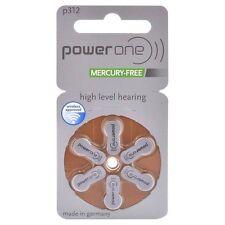 120 pile batterie apparecchi acustici POWER ONE modello misura 312 marrone PR41