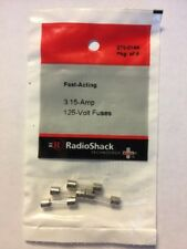Radio Shack Fast Acting Fuses 125V, 3.15A, 5x20mm. 270-0144 - 4 Pack