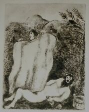 Marc Chagall Original Biblical  Etching, The Drunkenness of Noah