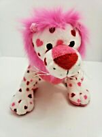 Ganz Webkinz Love Lion RETIRED Plush stuffed animal NO CODE hearts Pink White 9""