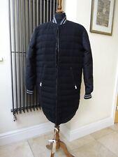 DIESEL Womens Black Padded Long Bomber Jacket Coat  Duck Down UK L