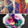 30X Girl Charm Elastic Hair Ties Rubber Band Knotted Hairband Ponytail Holder CP