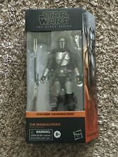 "Star Wars Black Series Mandalorian Beskar 6"" Figure In Hand"