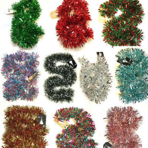 2m (6.5ft) Chunky Cut Tinsel Christmas Tree Decorations Xmas Garland