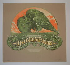 Aaron Horkey Init Fest Sioux Falls Concert Poster Print Kraft Variant 2008