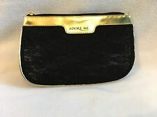 Adore Me Lace Clutch Hand Bag Gold and Black