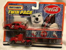 MATCHBOX TWIN PACK COCA-COLA SERIES 1999 RED CAR & RED SEMI TRUCK