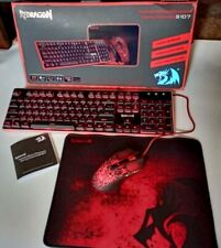 3 in 1 Red Dragon Keyboard Essentials RGB LED Keyboard, Mouse & Mouse pad kit