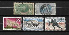 Lot 5  timbres SENEGAL (o) - Oblitérés - (107)