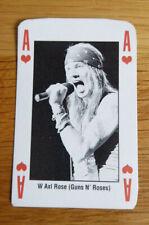 AXL ROSE GUNS N' ROSES SINGLE CARD KERRANG THE KING OF METAL 1990's