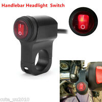 Motorcycle Waterproof LED Handlebar Headlight Fog Spot light On Off Switch 12V