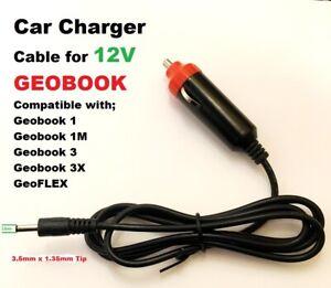12V Car Charger for 12v Geobook 1, Geobook 1M, Geoflex Laptop