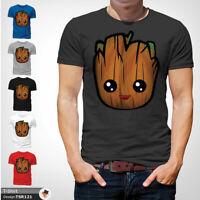 Baby Groot T Shirt Mens Tshirt Gray T-Shirt Guardians Galaxy Large Cotton XXL
