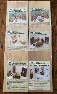 Lot of 6 Greenleaf Doll House Furniture Kits