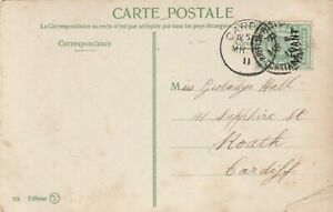 Postcard Levant Overprint British-Post-Office Constantinople 1911.