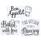English Letters Wall Sticker Removable Wall Decal For Home Kitchen Decoration