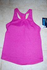 Dark Fuschia Pink HIND Stretchy Triumphe Shimmel T-Back Athletic Top Medium