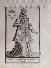 VINCENZO CORONELLI franciscano supremo pontífice aguafuerte XVIII sec Venezia
