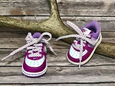 NIKE Infant Baby Girls Air Force 1 One Sneakers Purple Pink 314221-115 Sz 2C