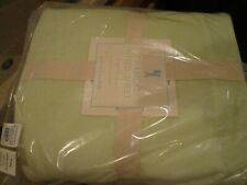 Pottery Barn Kids  Chamois twin fitted sheet light green  New with tag