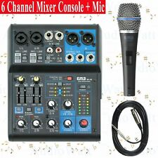 Emb Pro Mx06 6 Channel Mixer Console Dsp Digital Effect + Emic800 Microphone New