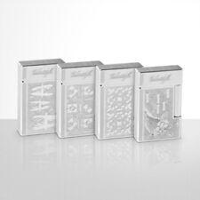Davidoff 50th Anniversary Set Of 4, Palladium Dual Flame Lighters New In Box