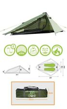 2 Man Lightweight Waterproof Camping Tent Alpine Green -  317 x 240 x 100cm -