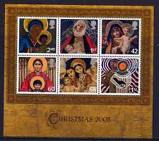 GB 2005 CHRISTMAS MADONNA & CHILD PAINTINGS MINIATURE SHEET MNH