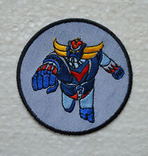 patch goldorak sur jean brodé et thermocollant 9cm