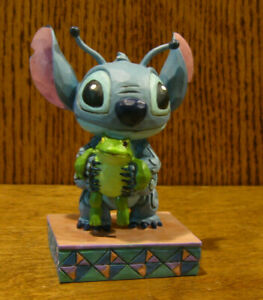 "Disney Showcase Collection #4059741 STITCH w/ FROG PERSONALITY POSE, 3.875"" NIB"