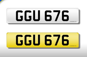 GGU 676 CHERISHED NUMBER PERSONAL PLATE