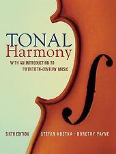Tonal Harmony by Stefan Kostka and Dorothy Payne (2008, Hardcover)