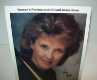 Vicki Paski Women's Professional Billiard Signed Autograph Photo Pool Vintage