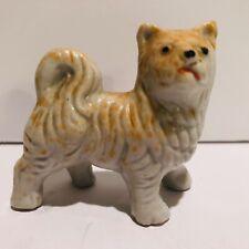 Vintage Porcelain Akita Dog Figurine Made in Japan