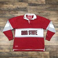 Ohio State University Buckeyes Rugby Shirt Long Sleeve Mens Size XXL 2X