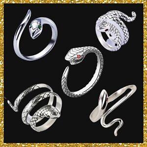 Ring Schlange aus 925 Sterling Silber Schlangenring S925 Drache