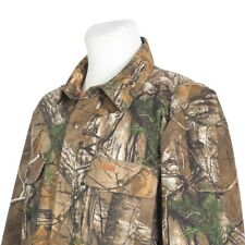 Carhartt Realtree Camo Cotton Canvas Quilt Lined Hunting Jacket Mens Large