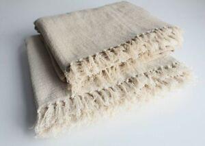 Multi Purpose Hemp Fabric Sheet, Earthy Hemp Sheet, Natural Hemp Shawl