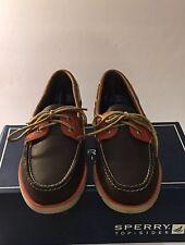 Sperry Top Sider Leeward DK Men's Size 9 Brown Tan Orange