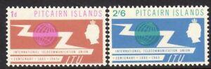 Pitcairn Islands Scott # 52-3 VF Unused 1965 International Cooperation Year